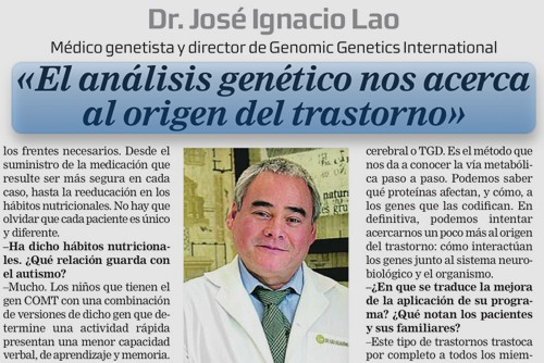 El análisis genético nos acerca a la orgien del trastorno