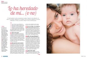 La herencia genetica en los bebes.